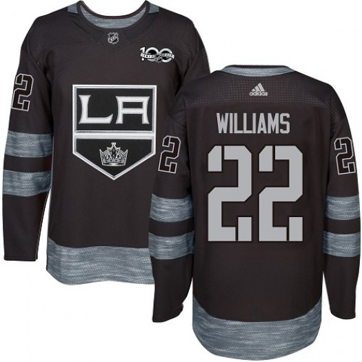 Tiger Williams Los Angeles Kings Men's Adidas Premier Black 1917-2017 100th Anniversary Jersey