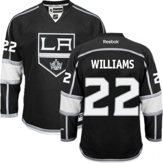 Tiger Williams Los Angeles Kings Men's Reebok Authentic Black Home Jersey