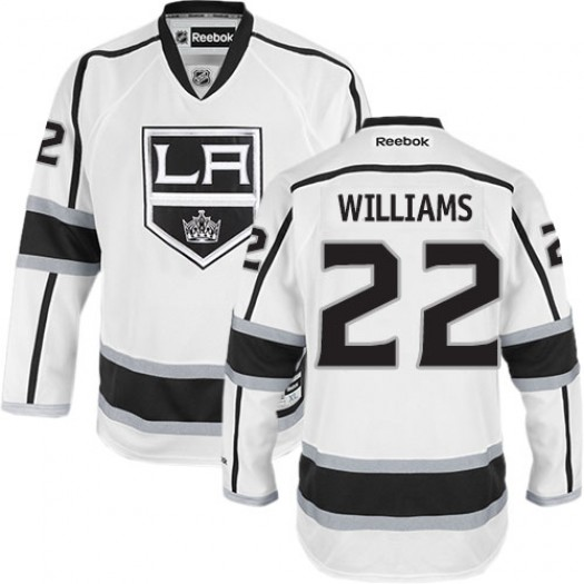 Tiger Williams Los Angeles Kings Men's Reebok Authentic White Away Jersey