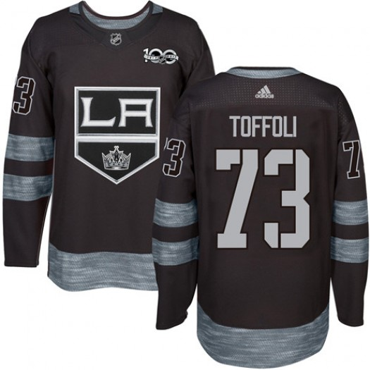 Tyler Toffoli Los Angeles Kings Men's Adidas Premier Black 1917-2017 100th Anniversary Jersey