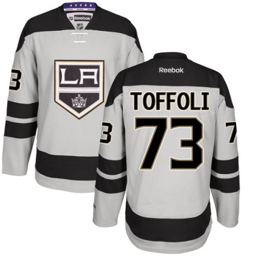 Tyler Toffoli Los Angeles Kings Men's Reebok Premier Gray Alternate Jersey