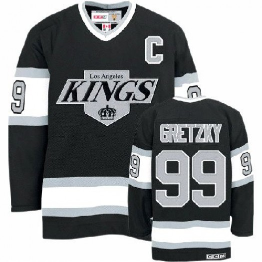 Wayne Gretzky Los Angeles Kings Men's CCM Authentic Black Throwback Jersey