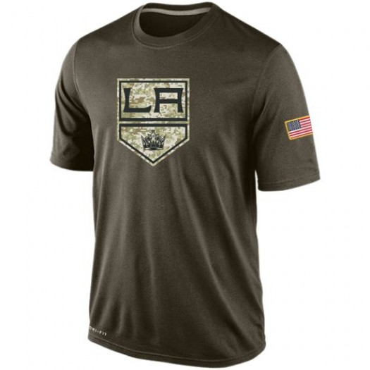 Los Angeles Kings Men's Nike Olive Salute To Service KO Performance Dri-FIT T-Shirt