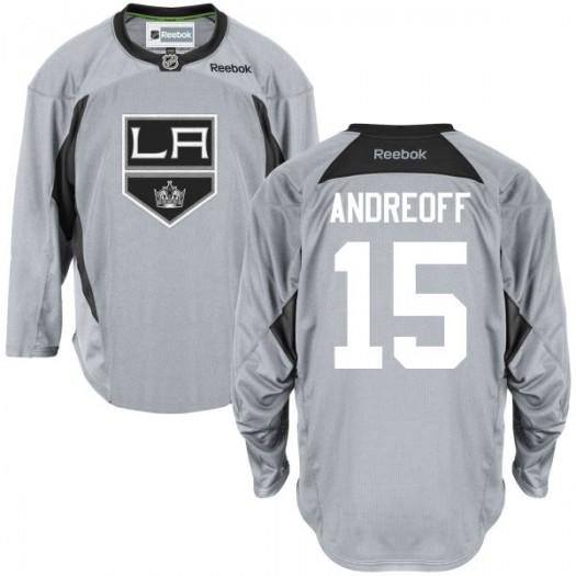 Andy Andreoff Los Angeles Kings Men's Reebok Replica Gray Practice Team Jersey