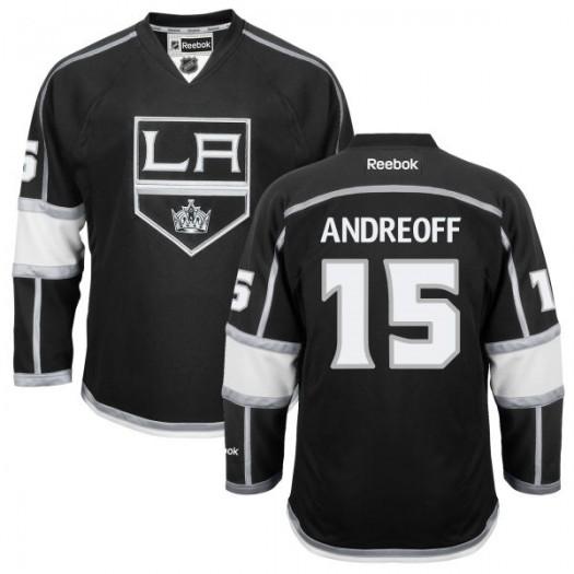 Andy Andreoff Los Angeles Kings Men's Reebok Replica Black Home Jersey