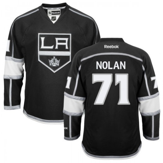 Jordan Nolan Los Angeles Kings Men's Reebok Replica Black Home Jersey
