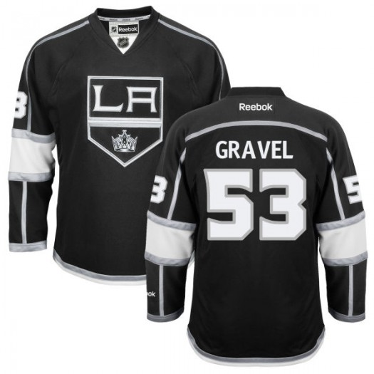 Kevin Gravel Los Angeles Kings Men's Reebok Replica Black Home Jersey