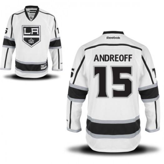 Andy Andreoff Los Angeles Kings Men's Reebok Replica White Away Jersey