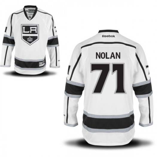 Jordan Nolan Los Angeles Kings Men's Reebok Replica White Away Jersey