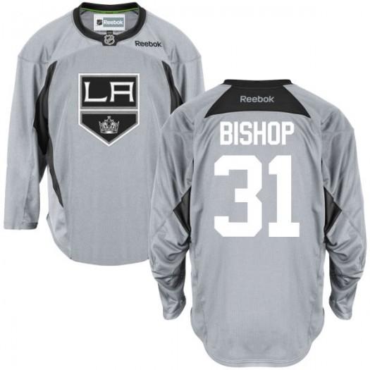 Ben Bishop Los Angeles Kings Men's Reebok Premier Gray Practice Team Jersey