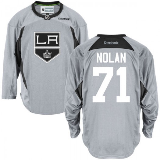 Jordan Nolan Los Angeles Kings Men's Reebok Premier Gray Practice Team Jersey