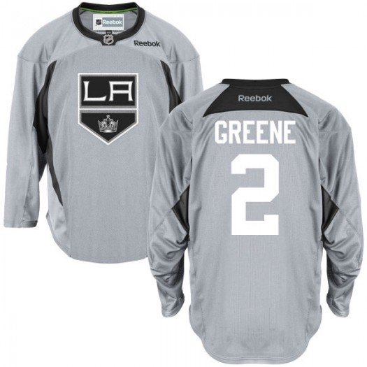 Matt Greene Los Angeles Kings Men's Reebok Premier Green Practice Team JerseyGray