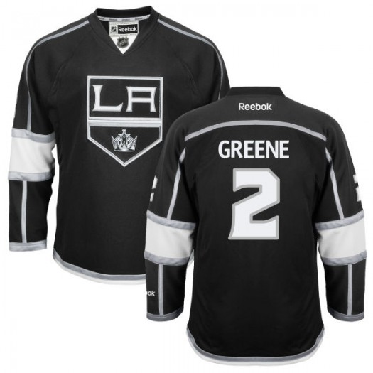Matt Greene Los Angeles Kings Men's Reebok Premier Green Home JerseyBlack