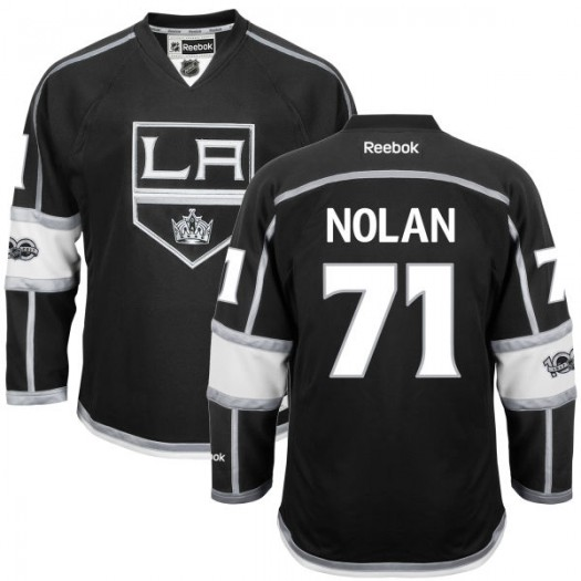 Jordan Nolan Los Angeles Kings Men's Reebok Premier Black Home Centennial Patch Jersey