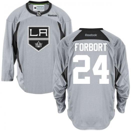 Derek Forbort Los Angeles Kings Men's Reebok Authentic Gray Practice Team Jersey