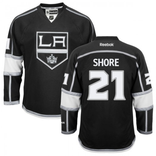Nick Shore Los Angeles Kings Men's Reebok Authentic Black Home Jersey