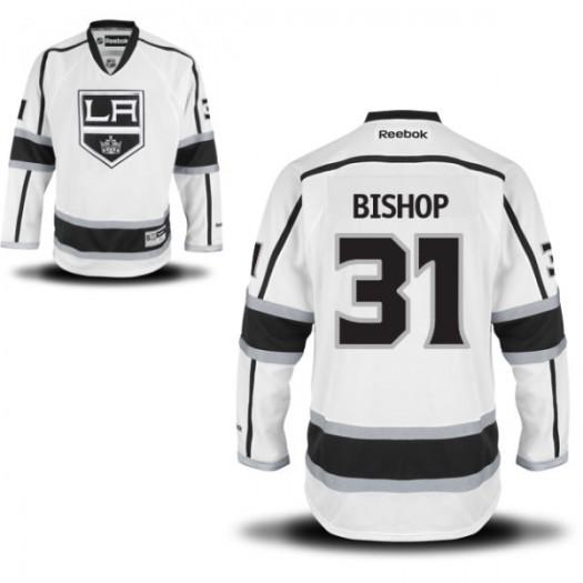 Ben Bishop Los Angeles Kings Men's Reebok Authentic White Away Jersey