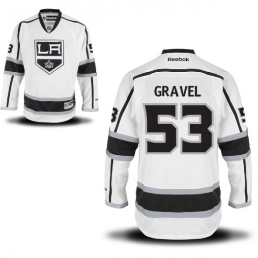 Kevin Gravel Los Angeles Kings Men's Reebok Authentic White Away Jersey