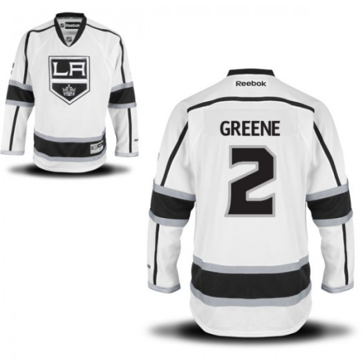 Matt Greene Los Angeles Kings Men's Reebok Authentic White Away Jersey