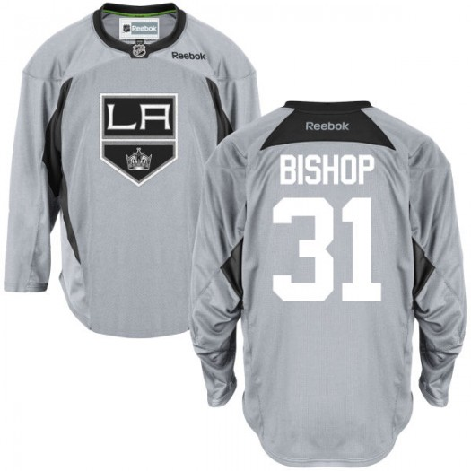 Ben Bishop Los Angeles Kings Youth Reebok Replica Gray Practice Team Jersey