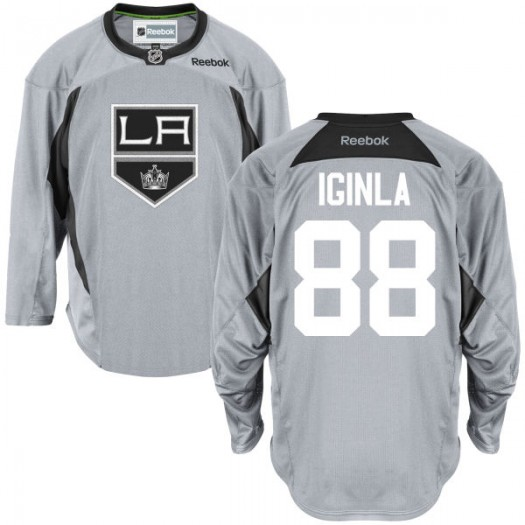 Jarome Iginla Los Angeles Kings Youth Reebok Replica Gray Practice Team Jersey