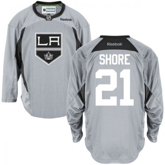 Nick Shore Los Angeles Kings Youth Reebok Replica Gray Practice Team Jersey