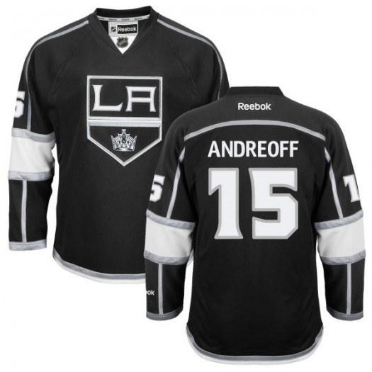 Andy Andreoff Los Angeles Kings Youth Reebok Replica Black Home Jersey