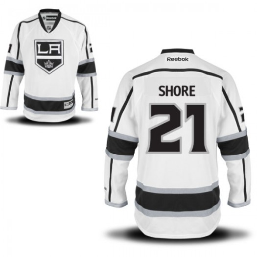 Nick Shore Los Angeles Kings Youth Reebok Replica White Away Jersey