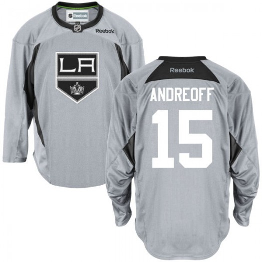Andy Andreoff Los Angeles Kings Youth Reebok Premier Gray Practice Team Jersey