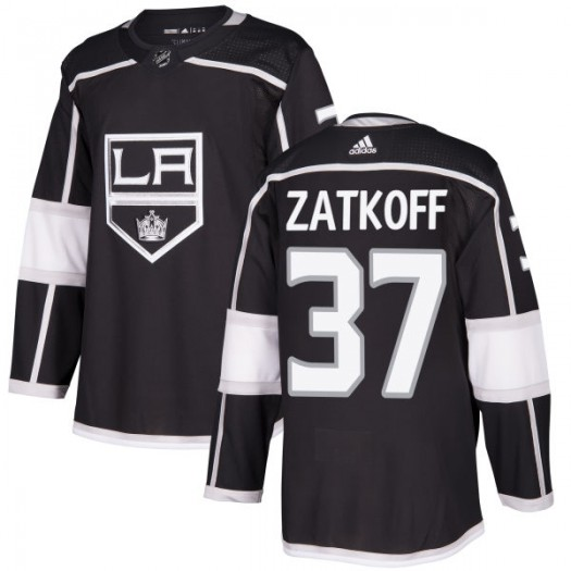 Jeff Zatkoff Los Angeles Kings Men's Adidas Authentic Black Jersey