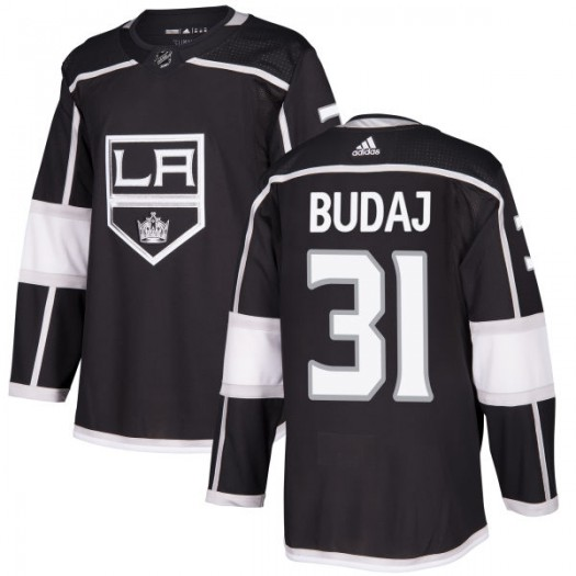 Peter Budaj Los Angeles Kings Men's Adidas Authentic Black Jersey