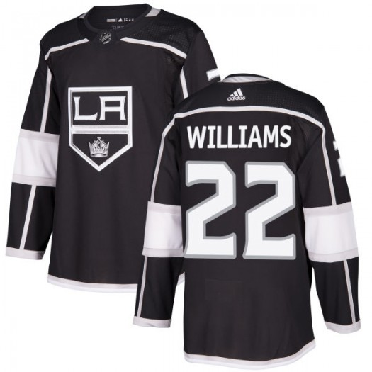 Tiger Williams Los Angeles Kings Men's Adidas Authentic Black Jersey