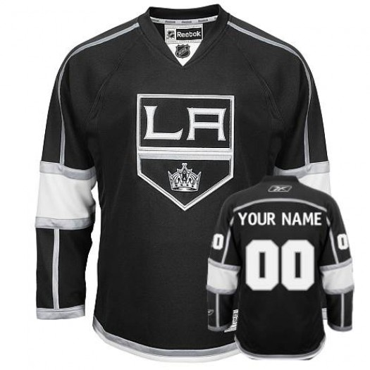Men's Reebok Los Angeles Kings Customized Authentic Black Home Jersey
