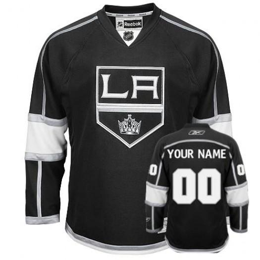 Men's Reebok Los Angeles Kings Customized Premier Black Home Jersey