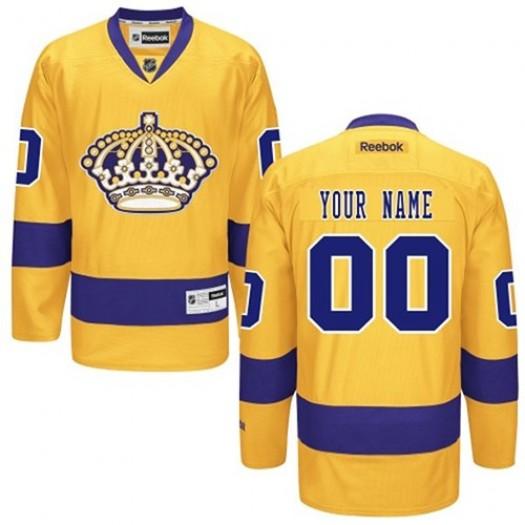 Men's Reebok Los Angeles Kings Customized Premier Gold Alternate Jersey