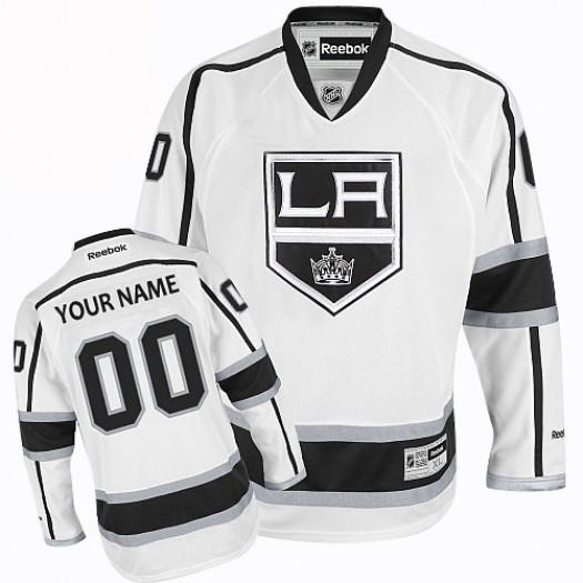 Men's Reebok Los Angeles Kings Customized Premier White Away Jersey