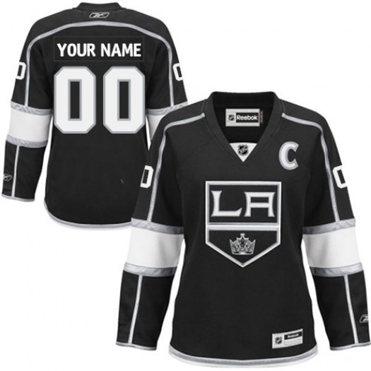 Women's Reebok Los Angeles Kings Customized Authentic Black Home Jersey