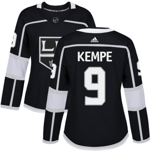 Adrian Kempe Los Angeles Kings Women's Adidas Authentic Black Home Jersey