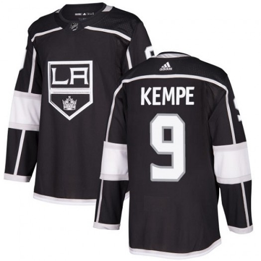 Adrian Kempe Los Angeles Kings Youth Adidas Authentic Black Home Jersey