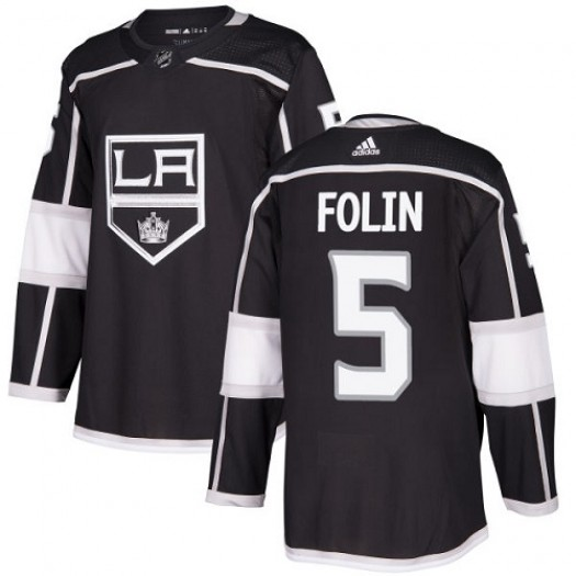 Christian Folin Los Angeles Kings Youth Adidas Authentic Black Home Jersey