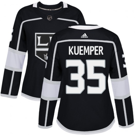 Darcy Kuemper Los Angeles Kings Women's Adidas Authentic Black Home Jersey