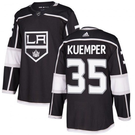 Darcy Kuemper Los Angeles Kings Youth Adidas Authentic Black Home Jersey