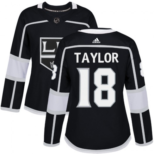 Dave Taylor Los Angeles Kings Women's Adidas Authentic Black Home Jersey