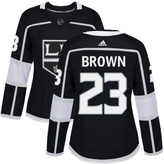 Dustin Brown Los Angeles Kings Women's Adidas Authentic Black Home Jersey