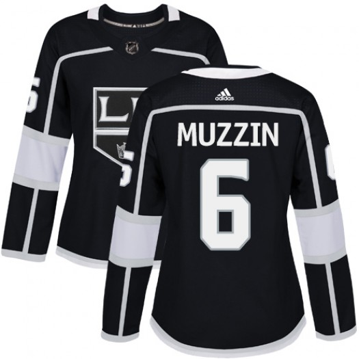 Jake Muzzin Los Angeles Kings Women's Adidas Authentic Black Home Jersey