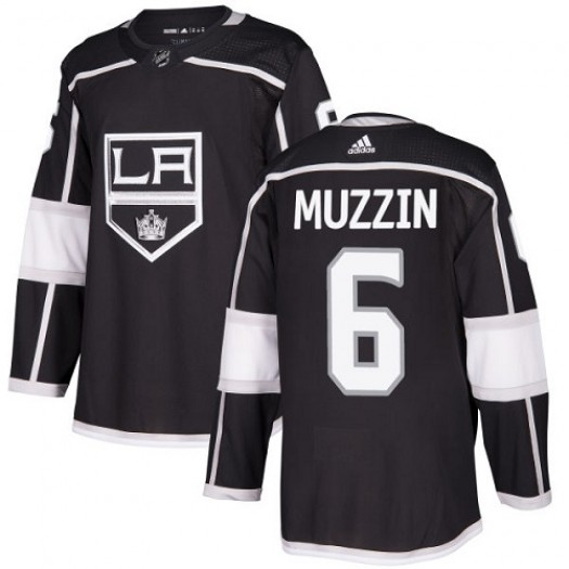 Jake Muzzin Los Angeles Kings Youth Adidas Authentic Black Home Jersey