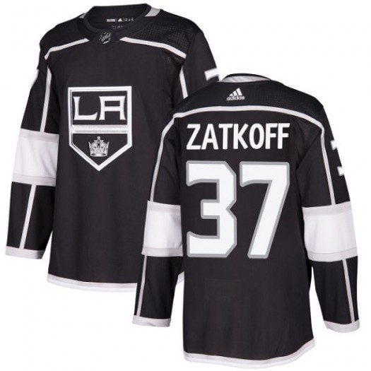 Jeff Zatkoff Los Angeles Kings Men's Adidas Premier Black Home Jersey