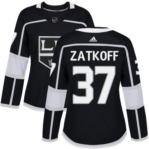 Jeff Zatkoff Los Angeles Kings Women's Adidas Authentic Black Home Jersey
