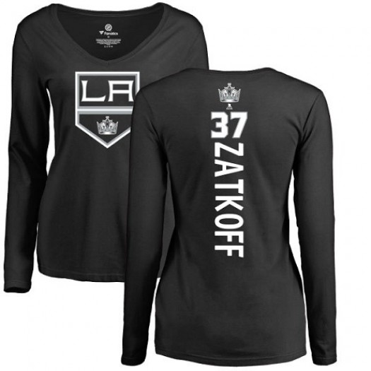 Jeff Zatkoff Los Angeles Kings Women's Adidas Premier Black Home Jersey