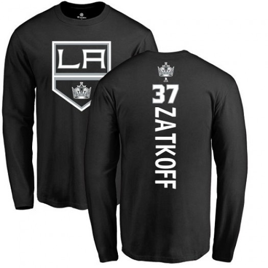 Jeff Zatkoff Los Angeles Kings Youth Adidas Premier Black Home Jersey